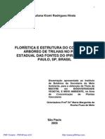 Florística e Estrutura Do Componente Arboreo No Parque Das Fontes Do Ipiranga