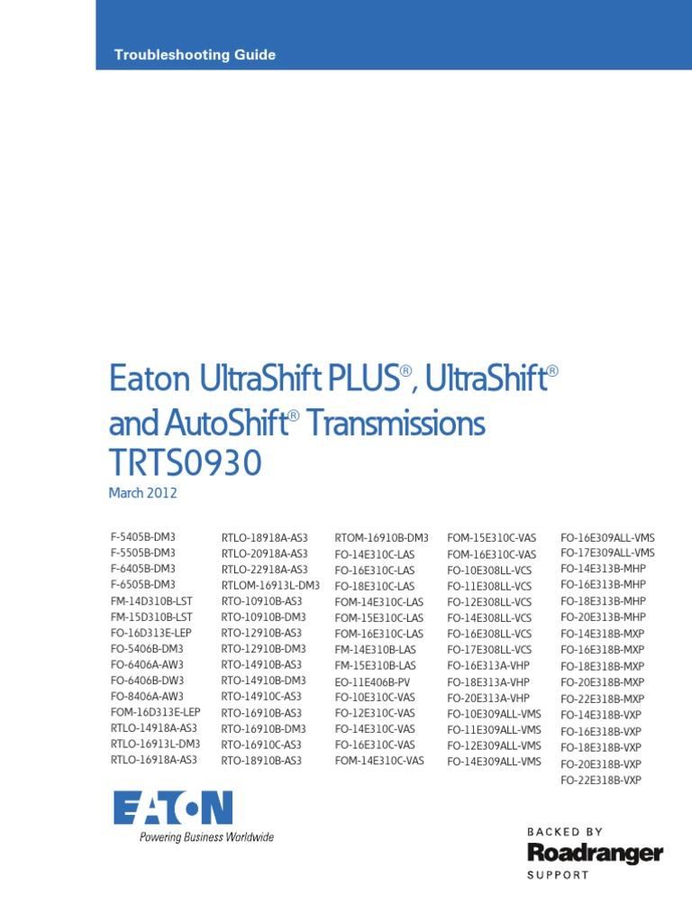 Gen3 Autoshift Ultrashift Ultrashift Plus Troubleshooting