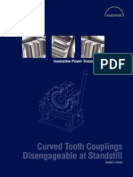 Curved Tooth Couplings Disengageable at Standstill