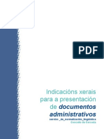 Indicacións xerais para a presentación de documentos