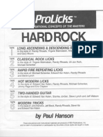 Guitar - Improvisational Concept of the Master From Hard Rock - Method by Paul Hanson