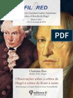 Observações Para a Crítica de Hegel