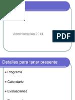 Introducción Administración 2014 2-2