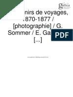 Souvenirs de Voyages. 1870-1879. Photographie G. Sommer Et E. Garreaud
