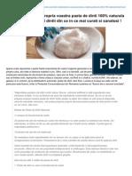 Preparati-Va Acasa Propria Voastra Pasta de Dinti Fara Fluor