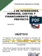 Estudio de Inversiones, Ingresos, Costos y