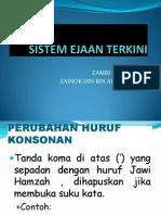 1. Sistem Ejaan Terkini