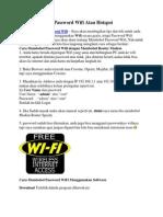 Cara Membobol Password Wifi Atau Hotspot