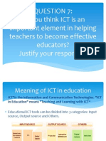 Do You Think ICT is an Important Element