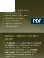 Types of Curriculum