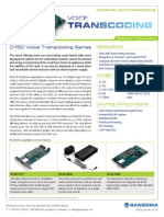 Sangoma D150 Series Transcoding Card Datasheet