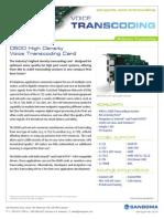 Sangoma D500 Series Transcoding Card Datasheet