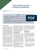 Density Error and Correction in Drum Level