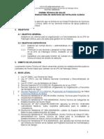 Norma Tecnica n 072 Unidad Productora de Servicios de Patologia Clinica