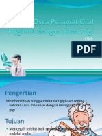 Osca Perawat Oral Hygiene Dengan Sikat Gigi