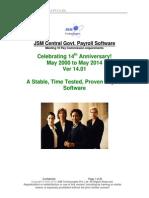 JSM Central Govt Payroll Software Brochure Ver 15.0