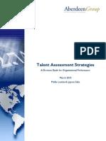 Talent Assessment Strategies