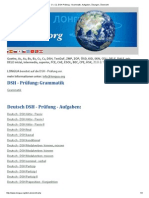 C1, C2, DSH Prüfung - Grammatik, Aufgaben, Übungen, Übersicht