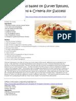 recipe ideas based on survey results limitations c4s