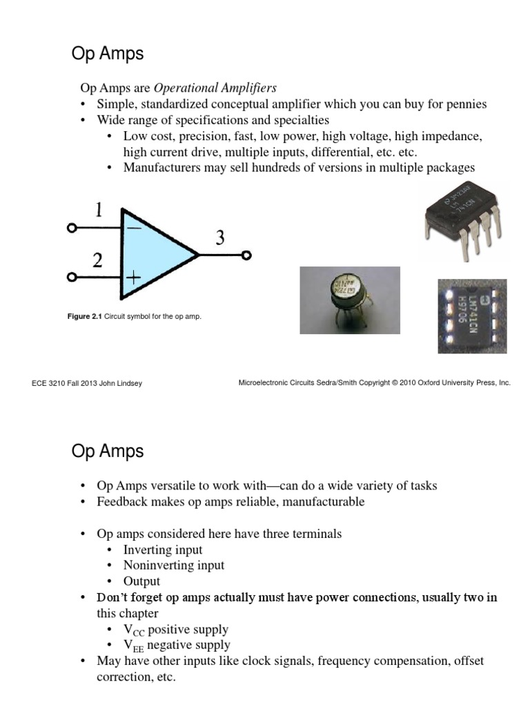 Chapter 2 Operational Amps Amplifier Op Amp How Does This Opamp Noninverting Work
