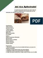 Receta Del Rico Apfestrudel