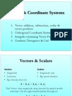 1_Vectors & Coordinate Systems