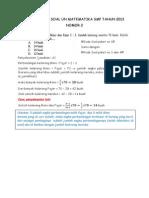 Bahasan Soal Ujian Akhir Nasional Matematika SMP