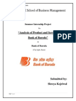 Analysis of Product and Services of Bank of Baroda