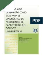 Articulo Perfil de Alto Desempeño Docente Universitario
