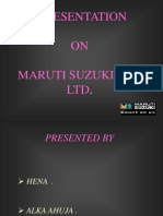 MarutiSuzuki Financial Analysis