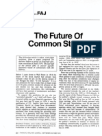 The Future of Common Stocks Benjamin Graham