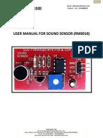 User Manual Sound Sensor