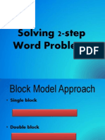 Solving 2-Step Word Problems