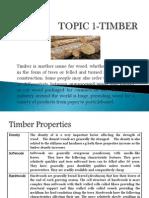 Topic 1-Timber