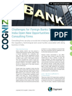 Challenges for Foreign Banks Entering India Open New Opportunities for Consulting Firms