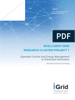 Operation Control and Energy Management of Grid Connected DG Final Report