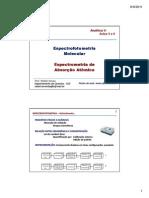 Aula 5 ESPECTROFOTOMETRIA e ABS ATOMICA 2S 2011 Versão Alunos Modo de Compatibilidade