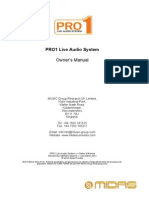 MIDAS PRO1 Operators Manual