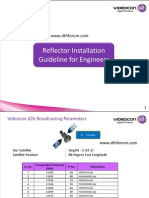 Videocon d2h Setup and Reflector Installation Guidelines