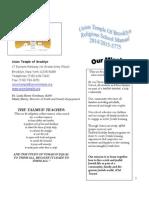 Religious School Manual 2014-2015
