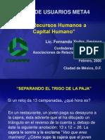 De Recursos Humanos a Capital Humano