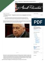 """Cakna Anak Perantau_ """"Si Bangsat Sharon"""" - Bagaimana Dunia Harus Mengingati Ariel Sharon"""