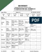 Time Table (odd semester)