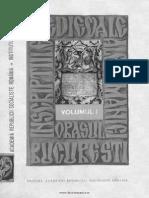 Inscriptiile Medievale ale Romaniei, orasul Bucuresti,  vol I,  1395-1800