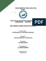 Ensayo sobre ¨La Informatica en la Enseñanza¨.doc