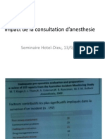 Impact de La Consultation d'Anesthesie