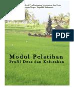 Modul Pelatihan Profil Desa Dan Kelurahan
