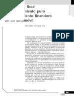 Tratamiento Fiscal de Arrendamiento Puro y Arrendamiento Financiero de Un Automóvil