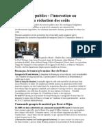 Transports Publics l'Innovation Au Service de La Réduction Des Coûts 12 Septembre 2014