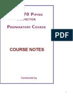 API 570 Course Notes- Joshi